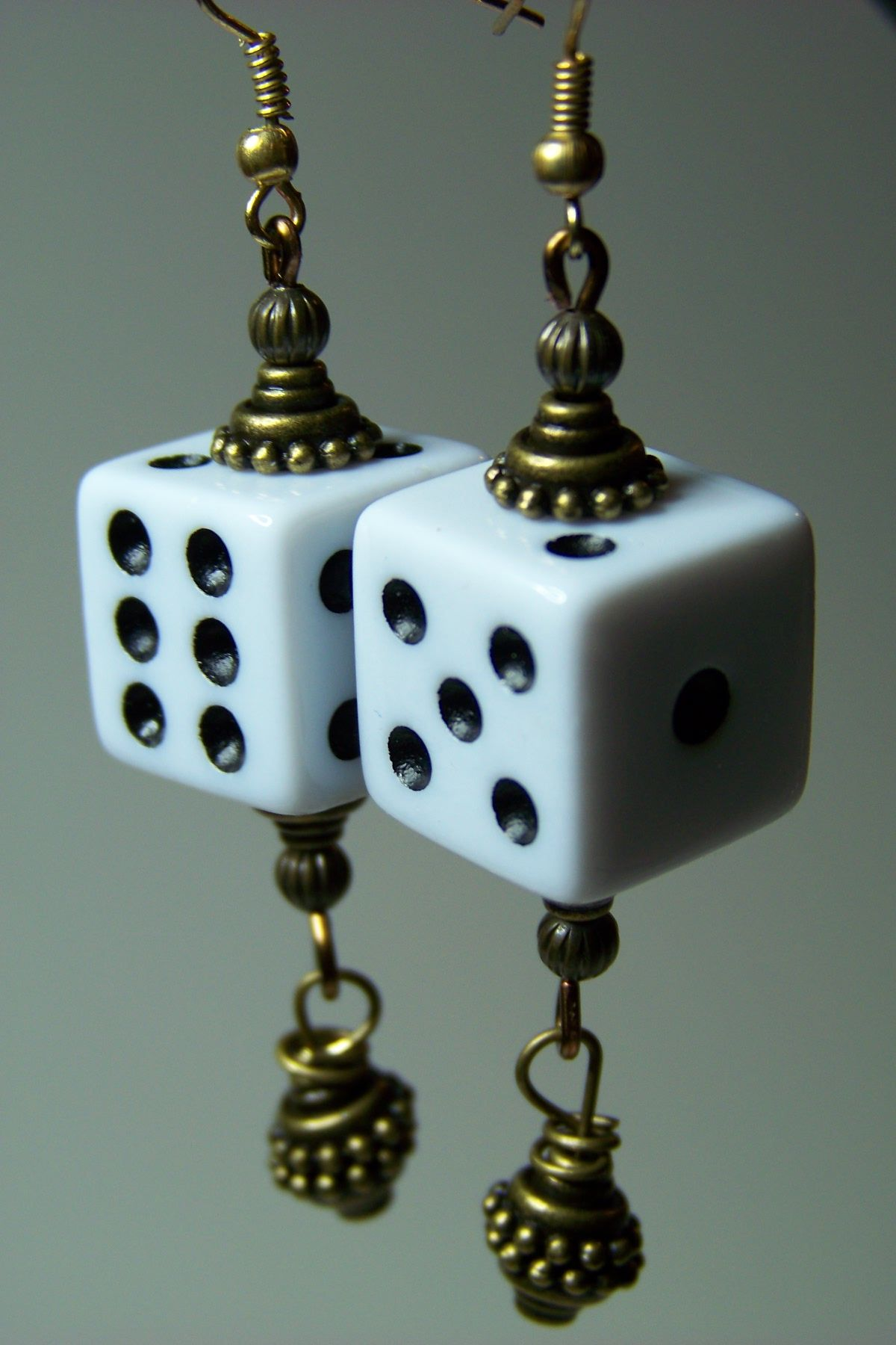 Take a chance with these dice earrings!