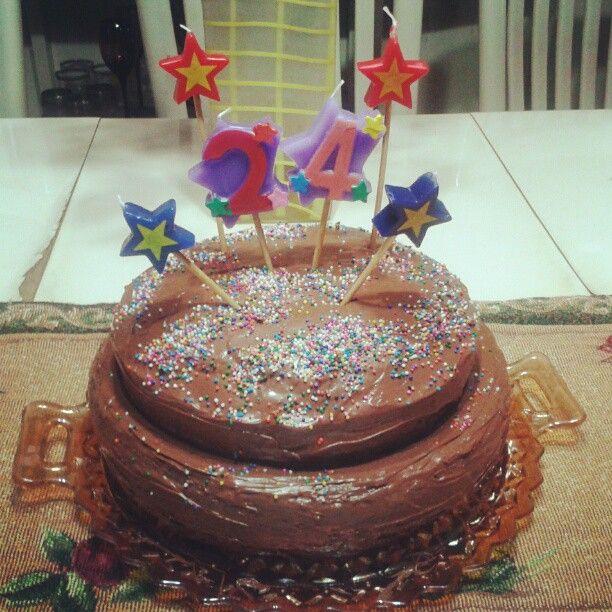 Banana & nutella birthday cake!
