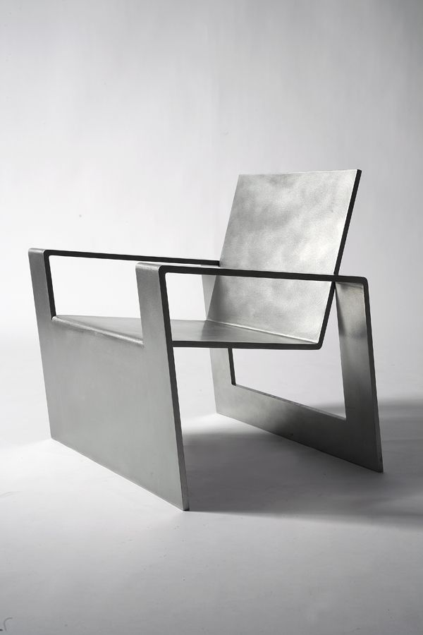 Forrest Myers Manifold stainless steel chair (edition of 8). @Deidré Wallace & Forrest Myers Manifold stainless steel chair (edition of 8 ...