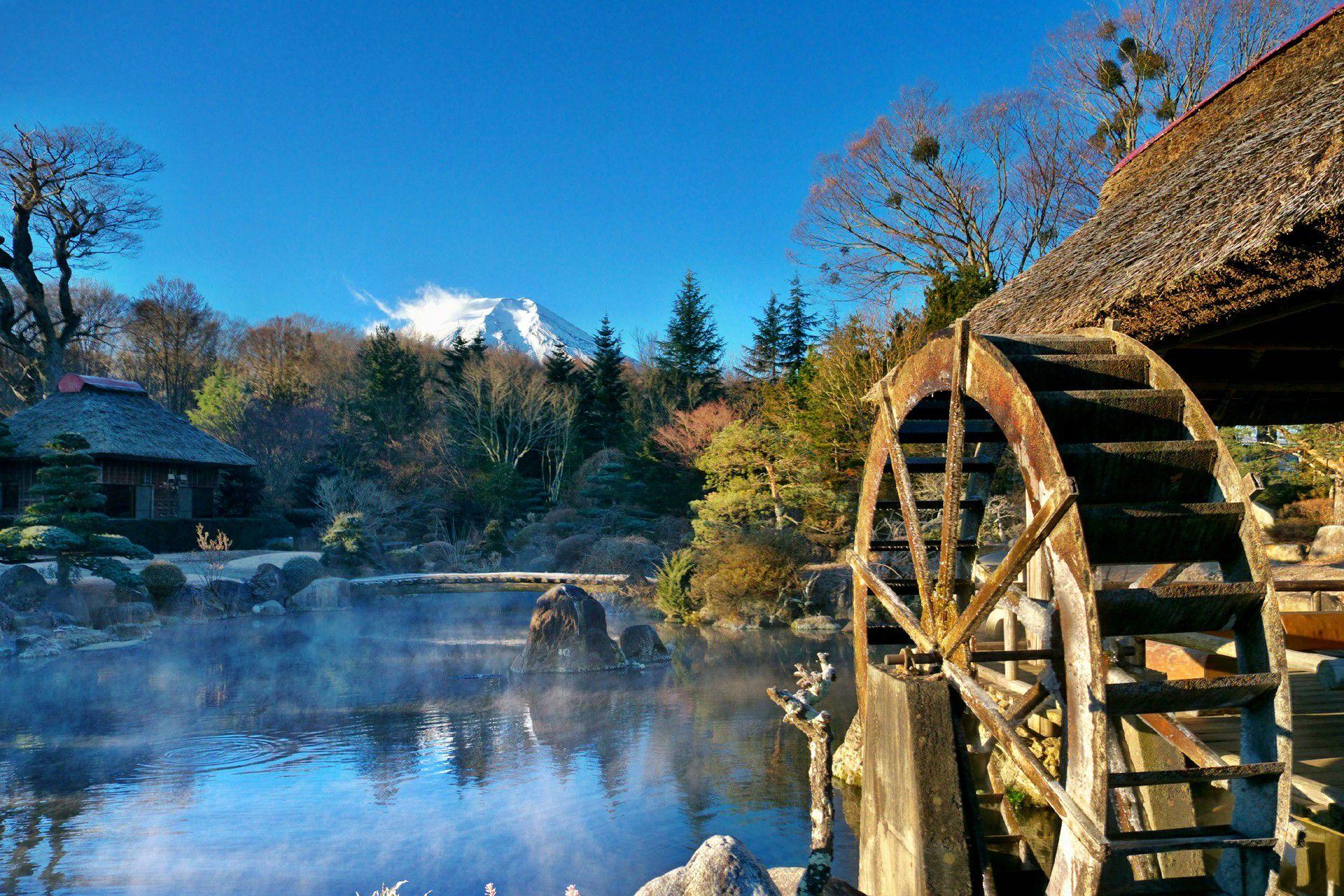 molino de agua bosque casa río de montaña armonía hermosa reflexión