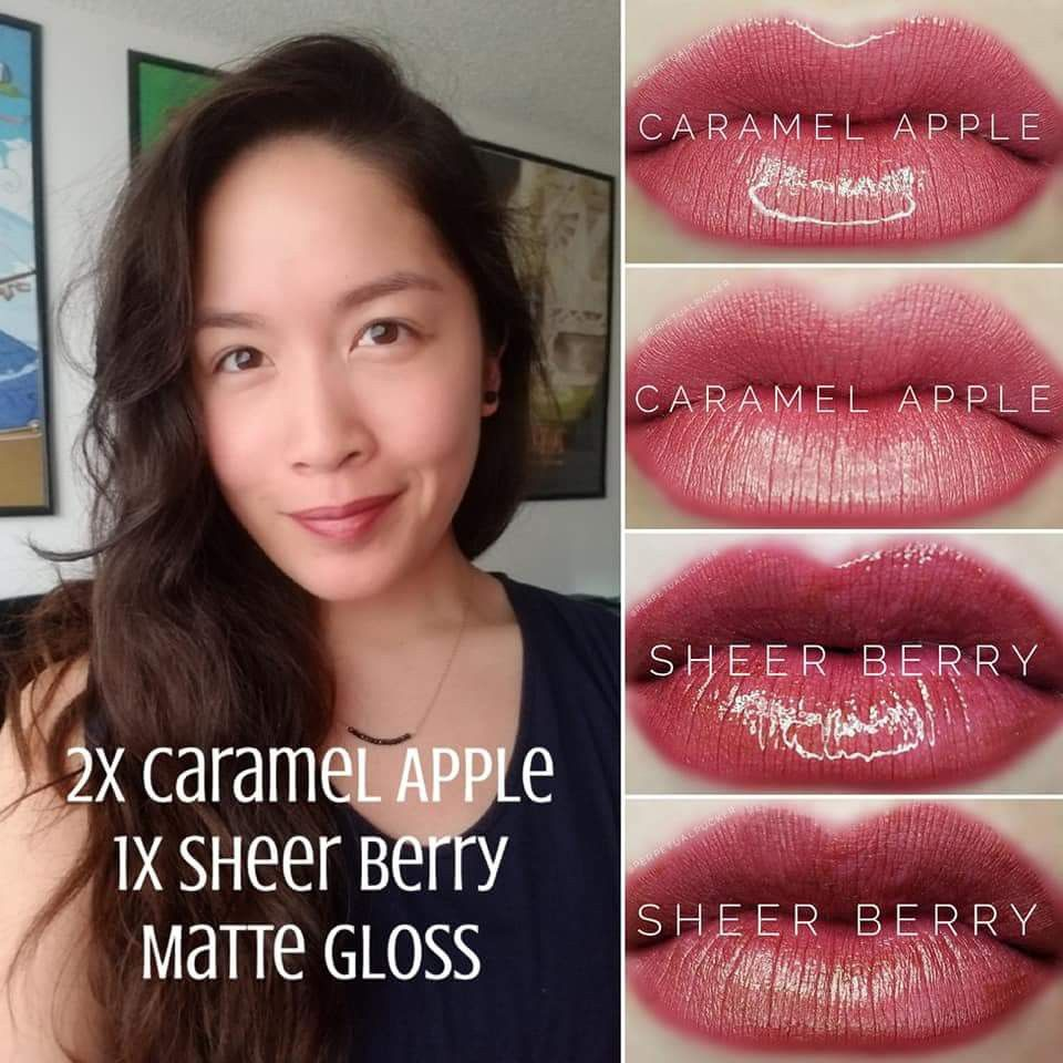 Lipsense Combo: Caramel Apple + Sheer Berry Message me at www.facebook.com/groups/ColorCoated for more information! #caramelapple #sheerberry #lipsense #lipsensecombos #colorcoated