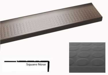 Best Roppe Rubber Stair Tread Low Profile Raised Circular 400 x 300