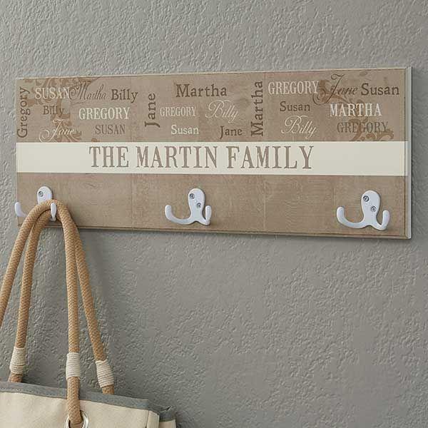 Our Loving Family Personalized Coat Rack Personalized Housewarming Gifts Unique Housewarming Gifts Coat Hanger