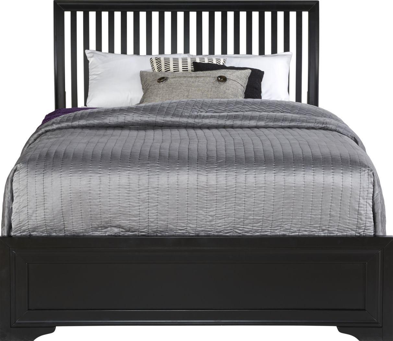 Belcourt Black 3 Pc Queen Slat Bed