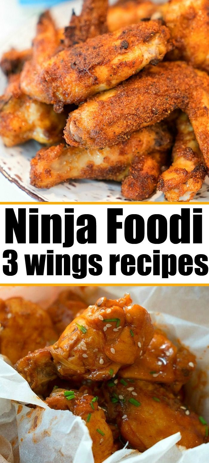 3 Ninja Foodi chicken wings recipes using frozen wings or