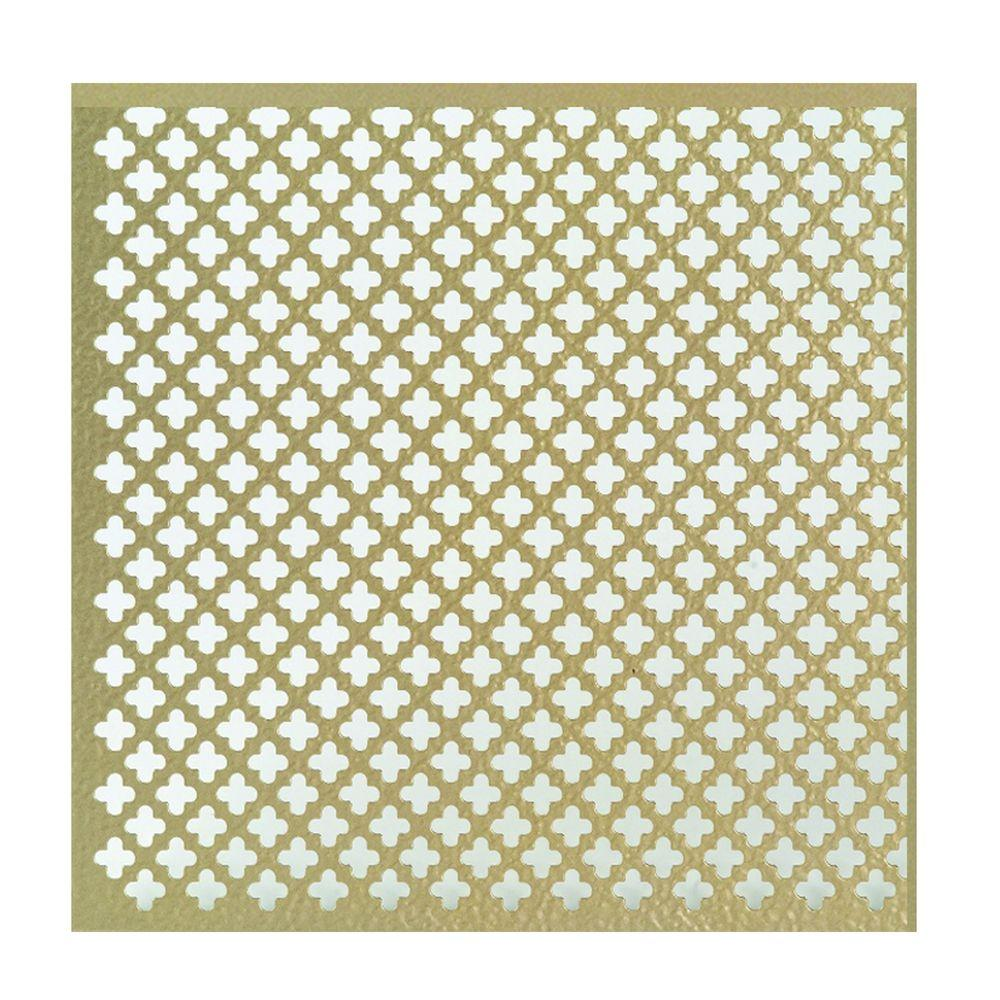 M D Building Products 36 In X 36 In Cloverleaf Aluminum Sheet In Brass 57240 The Home Depot In 2020 M D Building Products Aluminium Sheet Hvac Equipment