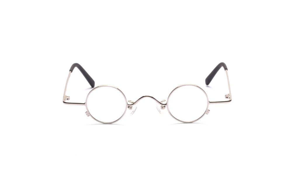 Small round eyeglasses in 32-30mm, in silver good wearable size for adults   Unbranded 743a69530609