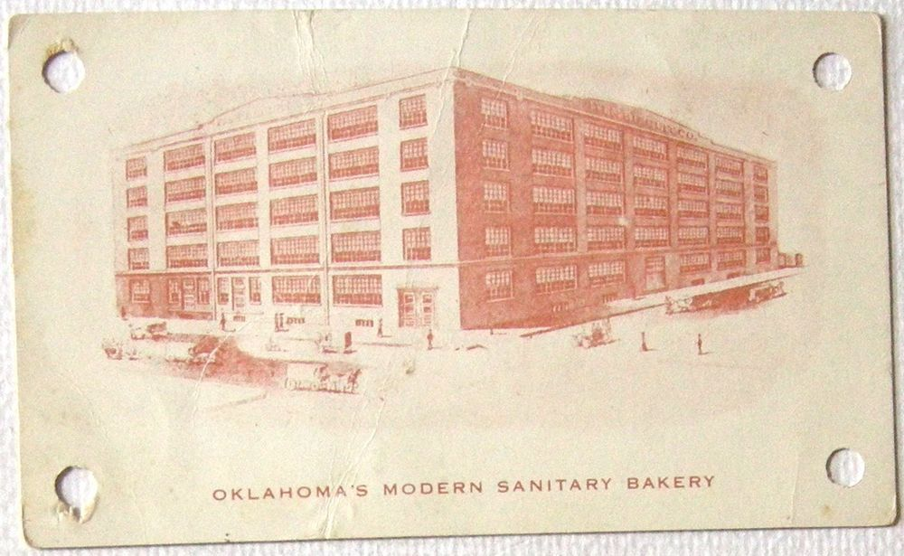 Postcard/Trade Card Oklahoma City OK Bakery/Factory Iten