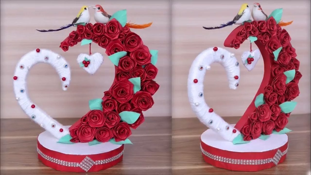 Diy paper heart showpiece diygifts ideas how to