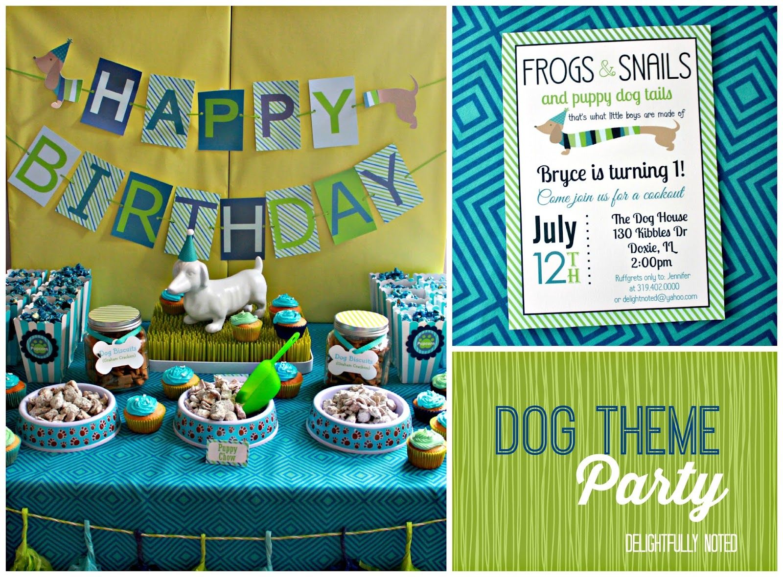 Dog Theme Birthday Party Ideas From Delightfully Noted