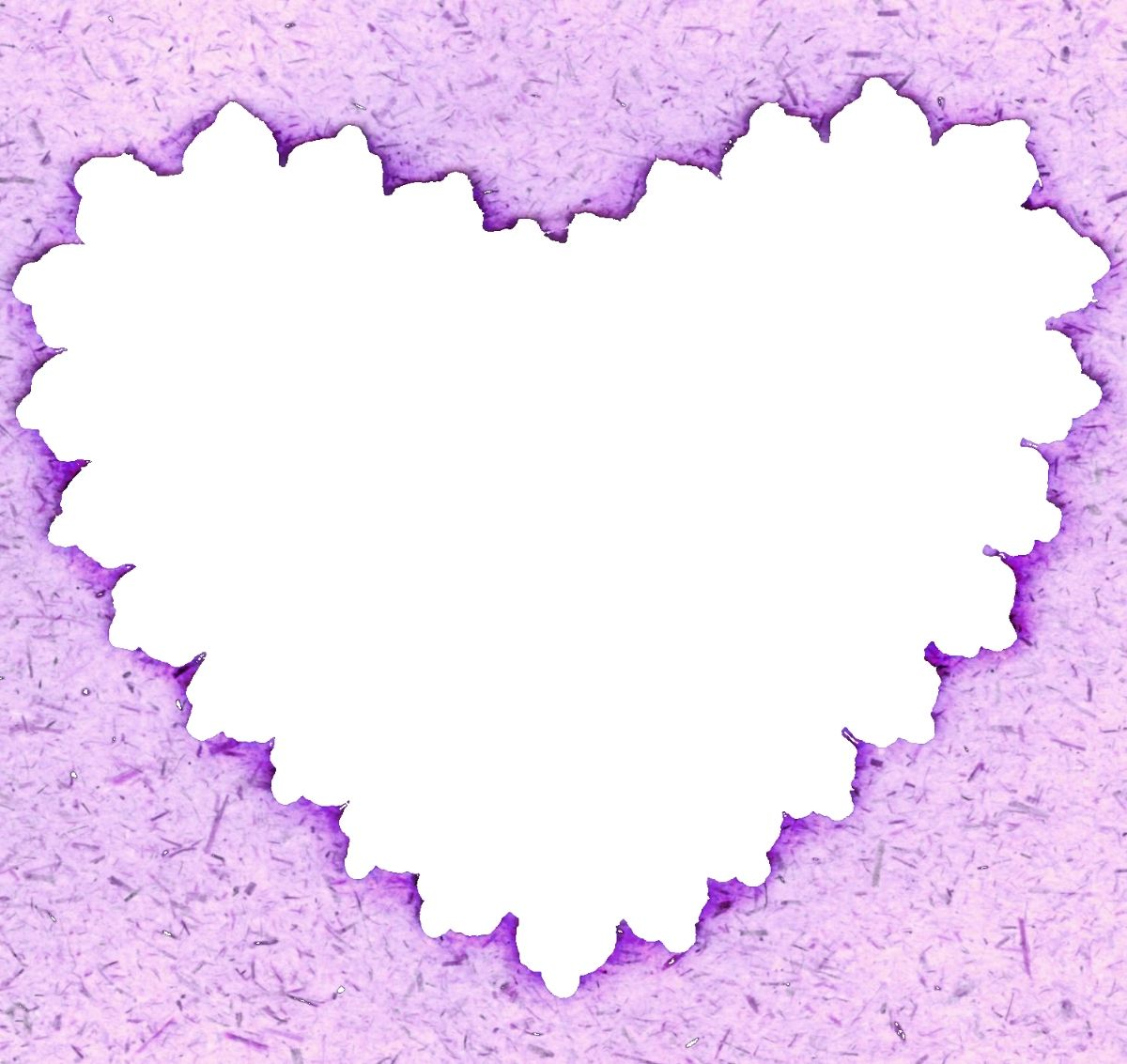 purple borders and frames 0123 scallop heart frame