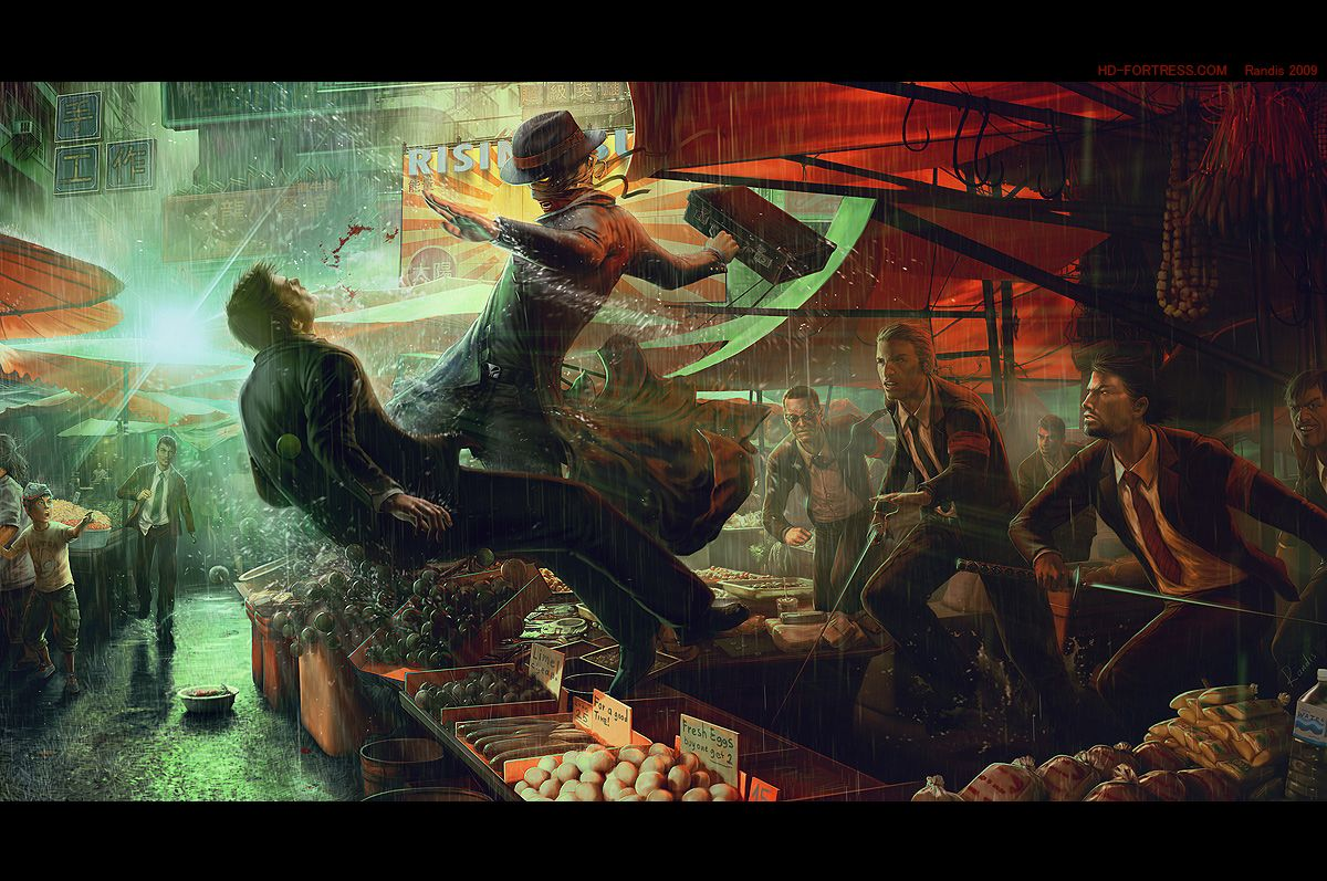 GO ZETAMAN GO! - Retro Picture (2d, illustration, rain, city