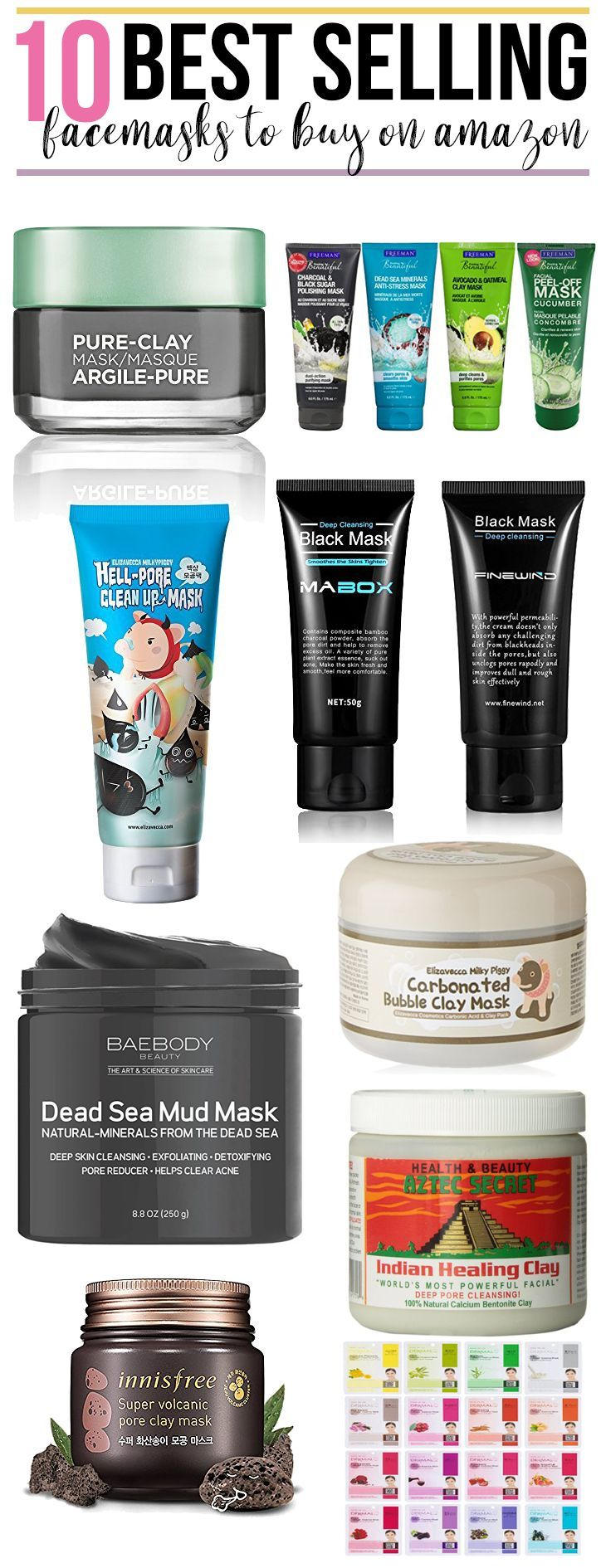 10 Best Selling Facemasks On Amazon Hairspray And Highheels Skin Care Makeup Skin Care Natural Skin Care