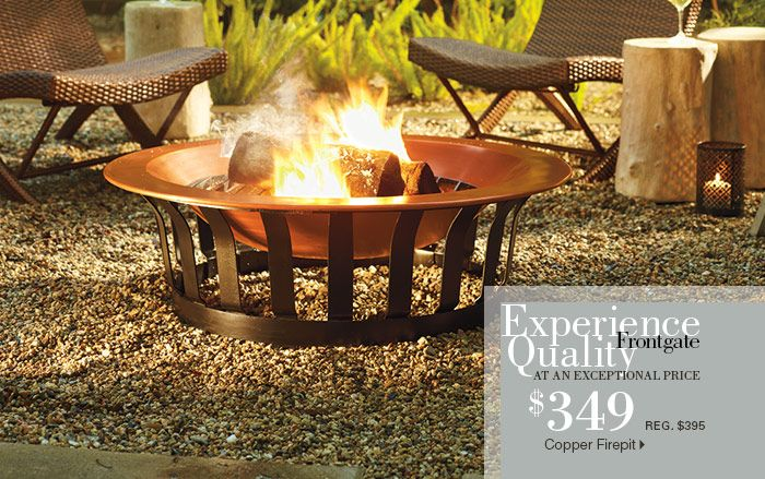 Front Gate Copper Fire Pit For The
