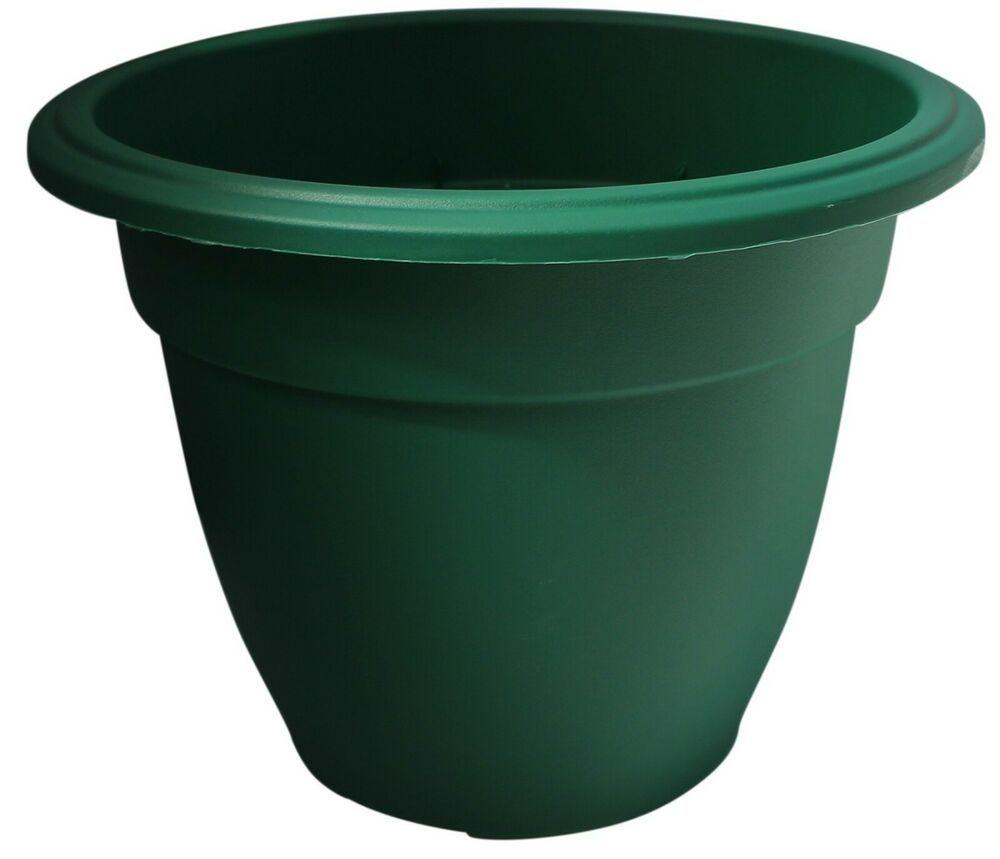 38cm Round Bell Large Planter Plastic Plant Pot Flower Planter Green Round Pot 5016447013584 Ebay In 2020 Plastic Plant Pots Large Planters Flower Pots