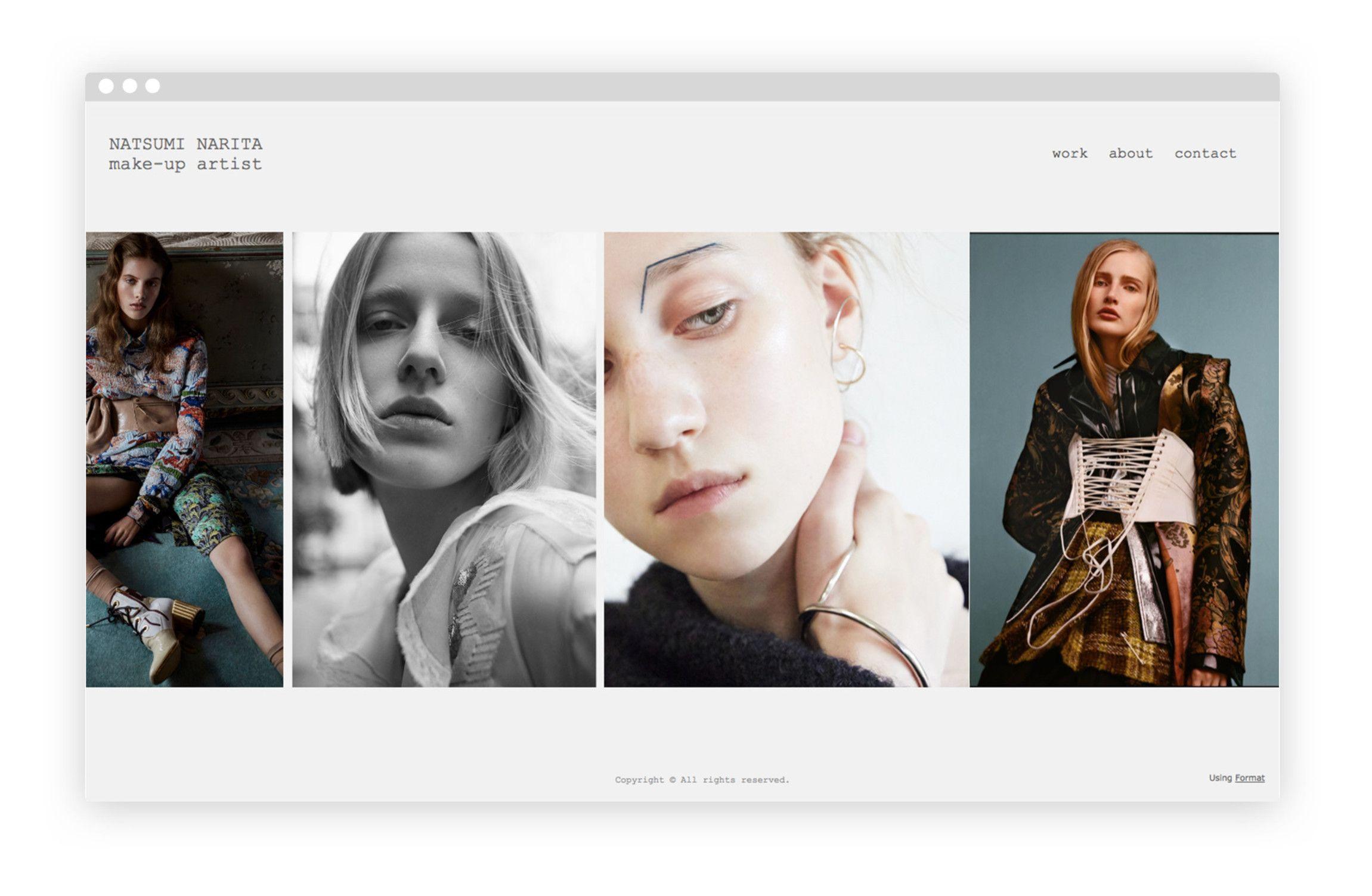 makeup artist portfolio examples