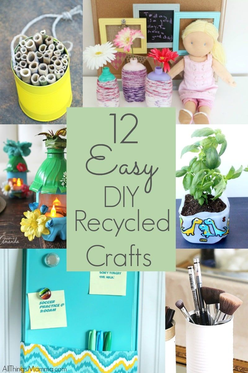 Diy Recycled Bottle Flower Vase Craft Recycled Crafts