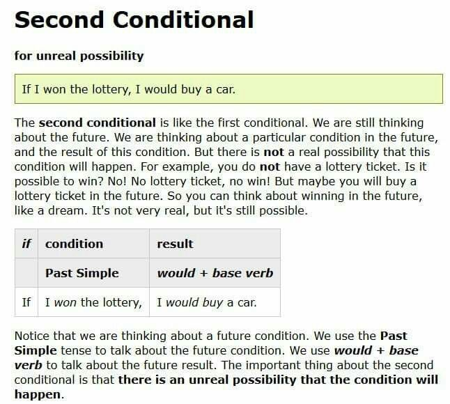 Second Conditional  Conditional Sentences