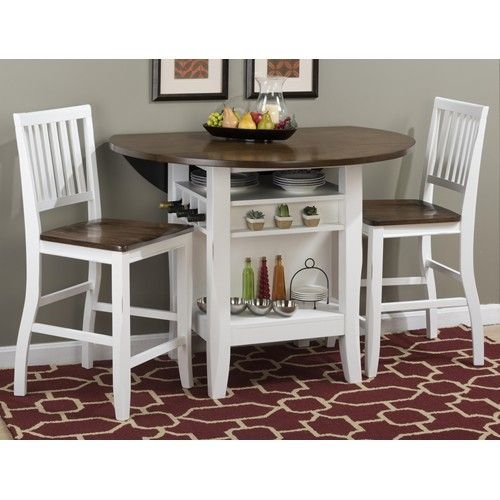 Jofran Braden Birch 48 Round Counter Height Table Set With Drop