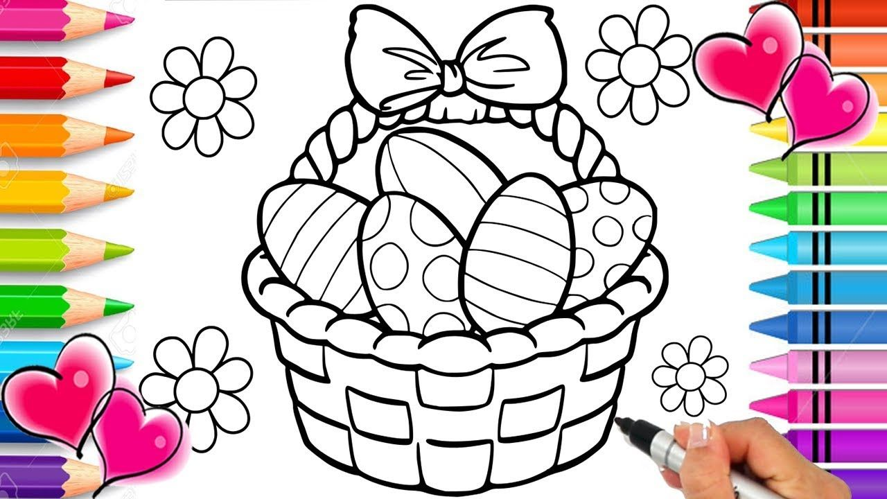 Easter Basket Coloring Page Easter Coloring Book Glitter Sparkle Eas Easter Coloring Book Easter Coloring Pages Easter Colouring