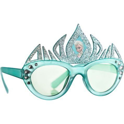 Disney Frozen Girls Sunglasses in Blue with Cute Silver Studs Features Elsa Character Design on Lens