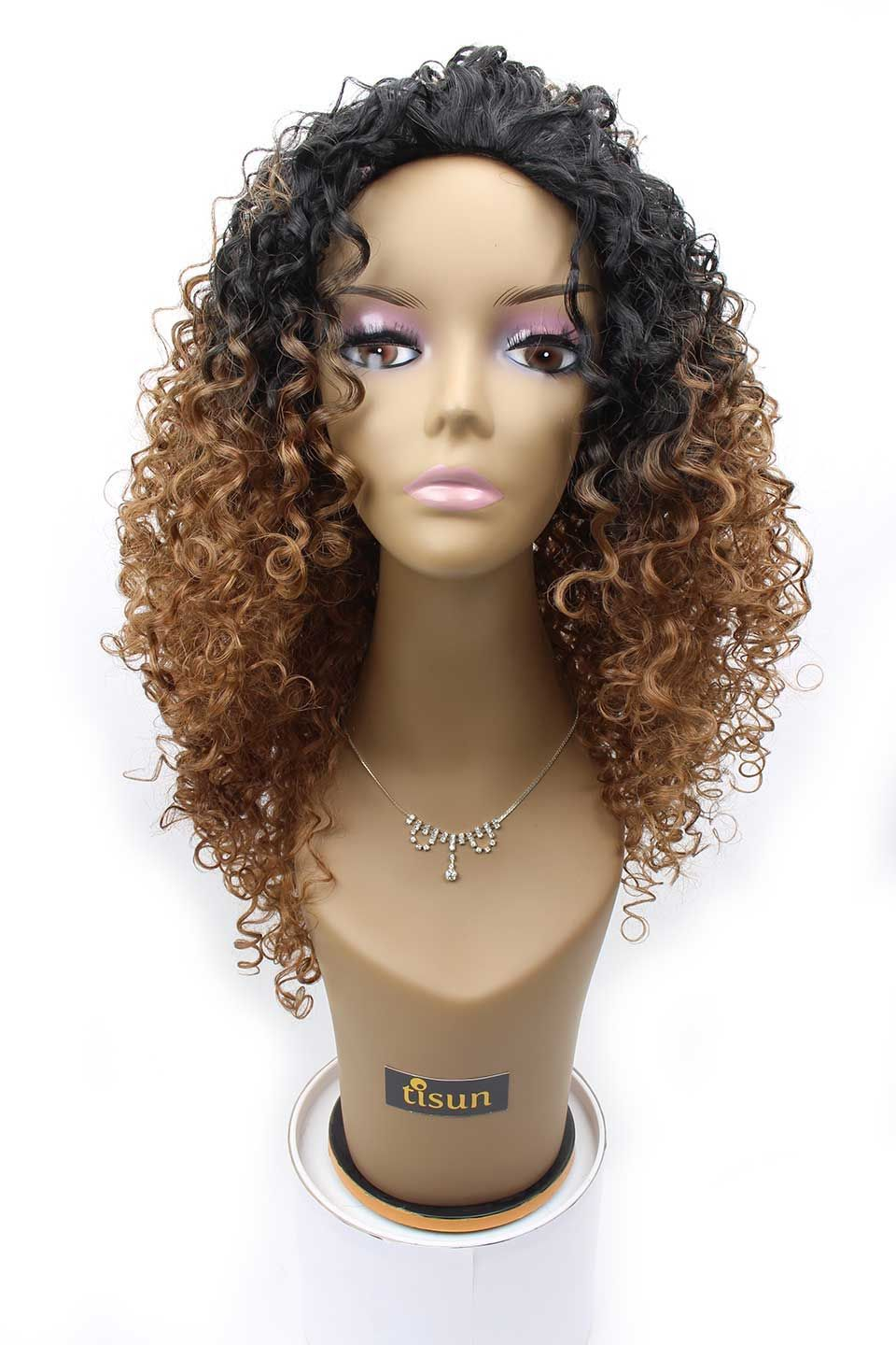 Outre Quick Weave Synthetic Half Wig Dominican Curly Color DR30 - Dark Root  Off Black   Light Auburn bcbf65647