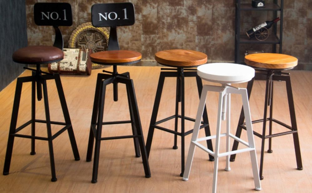 Popular Industrial Metal Chair Buy Cheap Industrial Metal Chair Rustic Bar Stools Rustic Kitchen Kitchen Bar Stools
