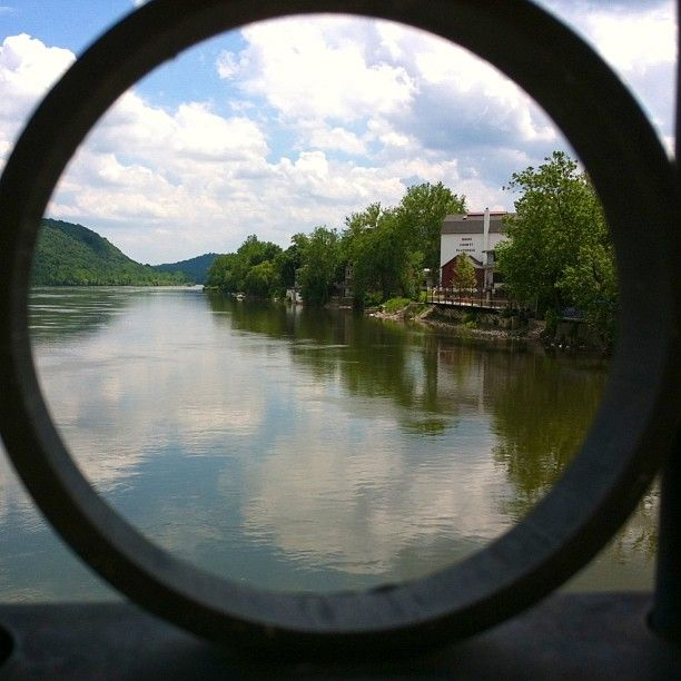 "Check out this awesome view of New Hope from the New Hope-Lambertville Bridge captured by @wendymcpic as part of our ""Capture Your #BucksCountyMoment"" photo contest."