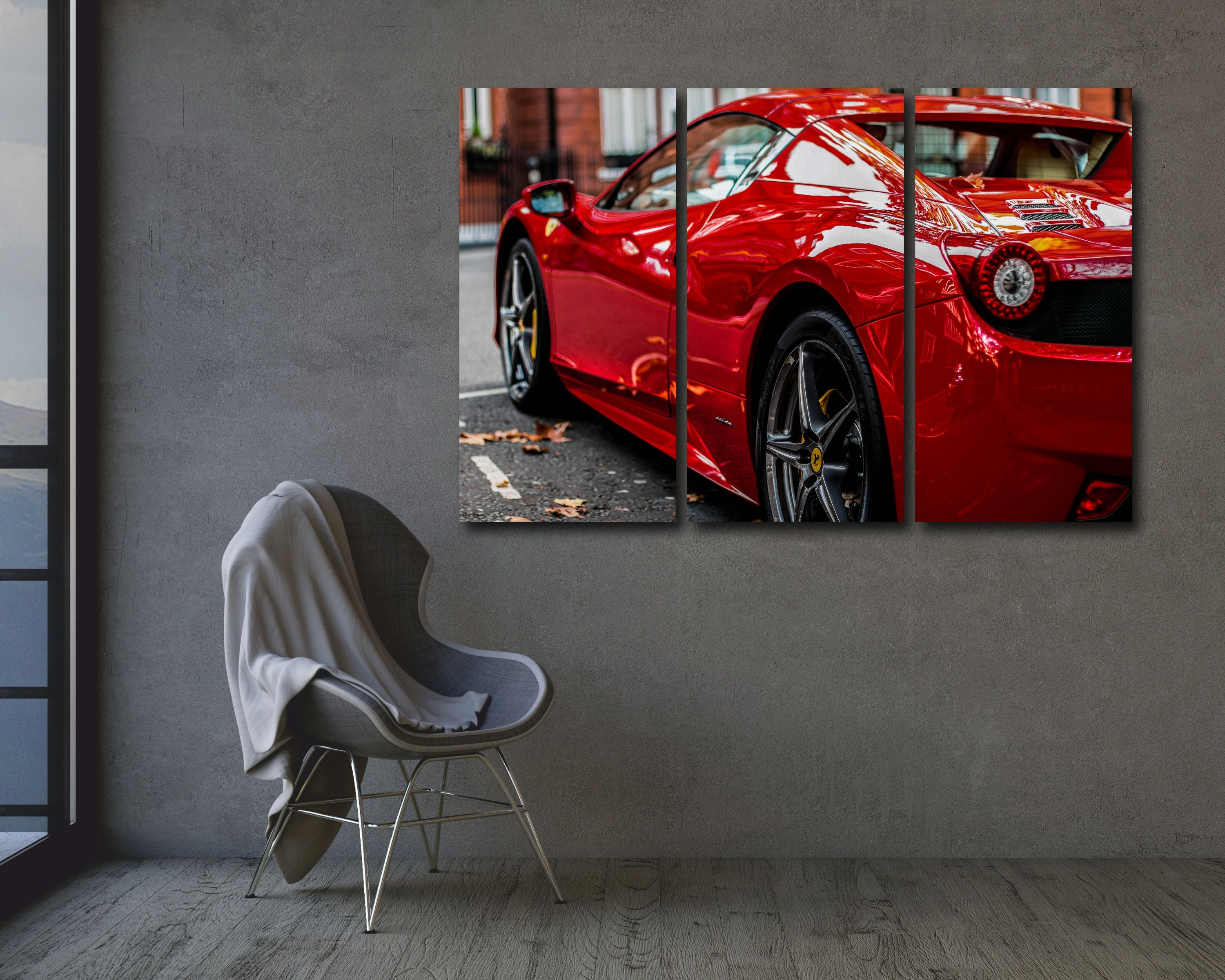 Ferrari Canvas Auto Supercar Autosport Racing Wall Art Home Decor Giclee Printed Canvas Poster Wall Hanging Red Car Canvas Prints Super Cars Home Decor