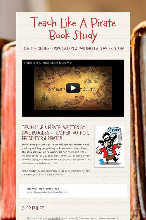 Teach Like A Pirate Book Study | Teacher PD | Teach like a pirate