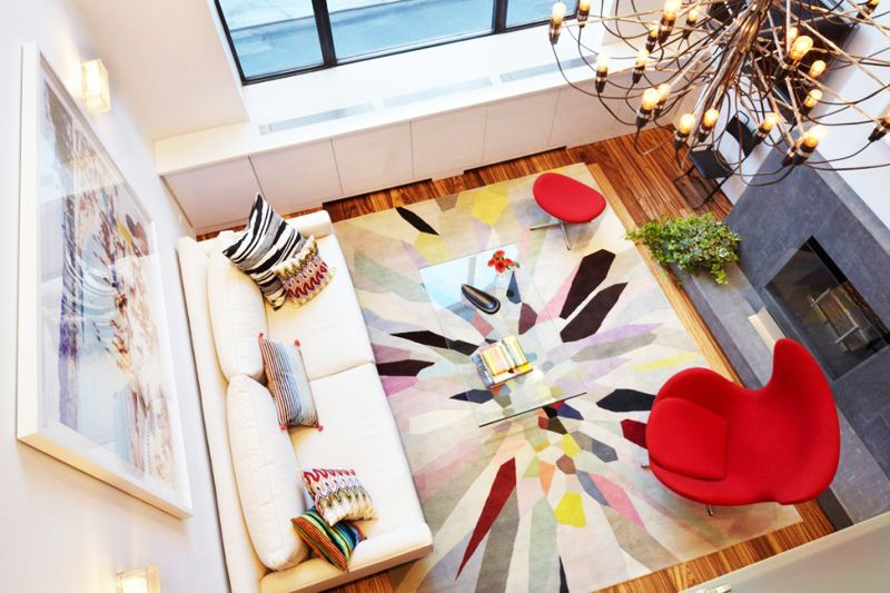 Colourful and Light Filled Duplex in Manhattan by Axis Mundi Design    DesignRulz.com