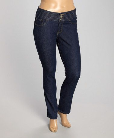 3c90877dcc4 This Dark Indigo Butt Lifter Skinny Jeans - Plus by be-girl is perfect!   zulilyfinds