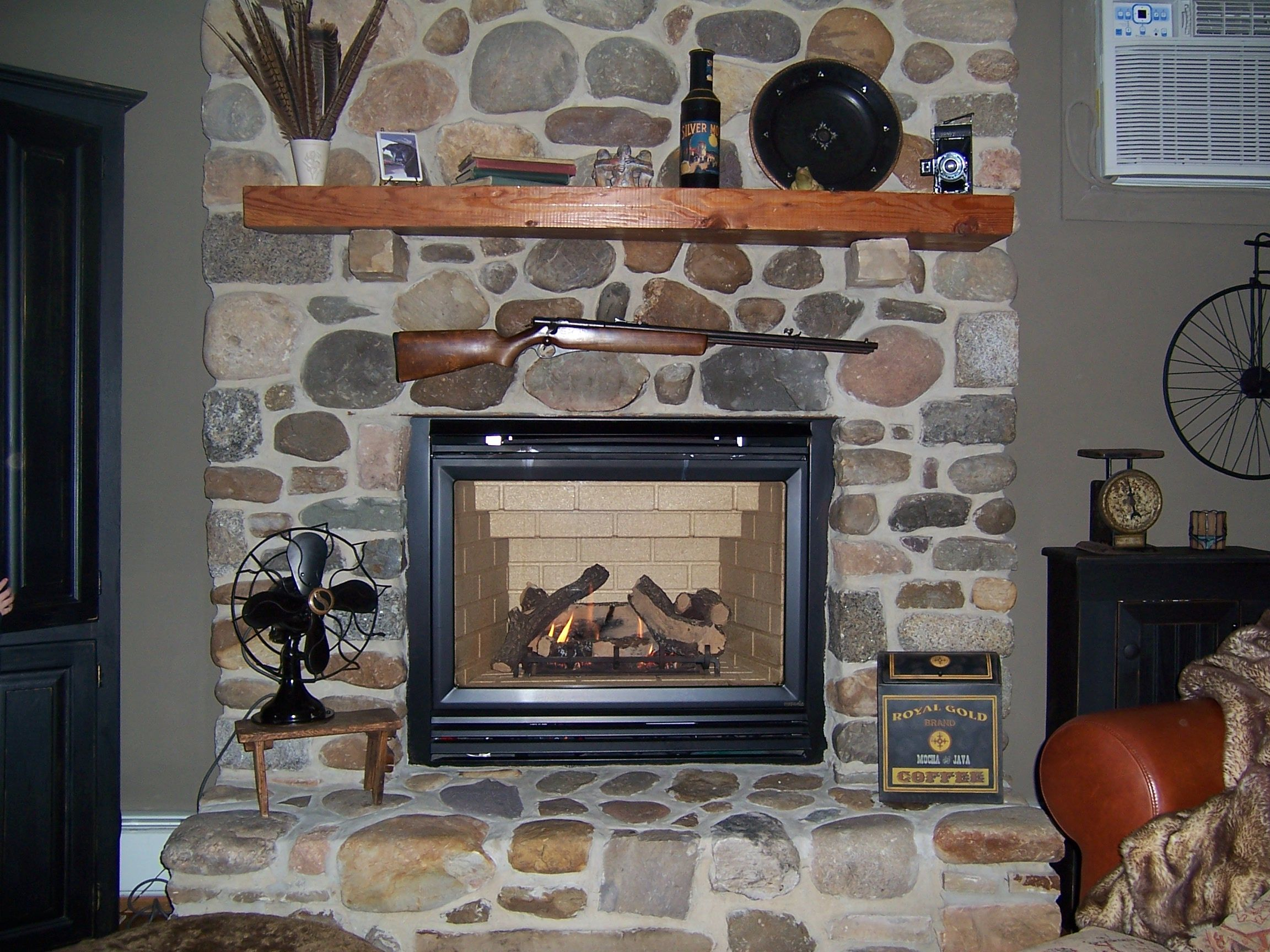 cobblestone fireplaces home sweet home pinterest rock