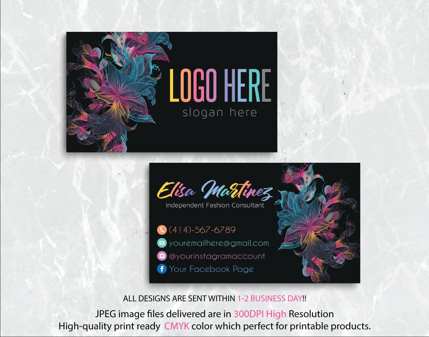 Personalized Lularoe Business Cards Lularoe Template Design Llr22 Lularoe Business Cards Lularoe Business Template Design