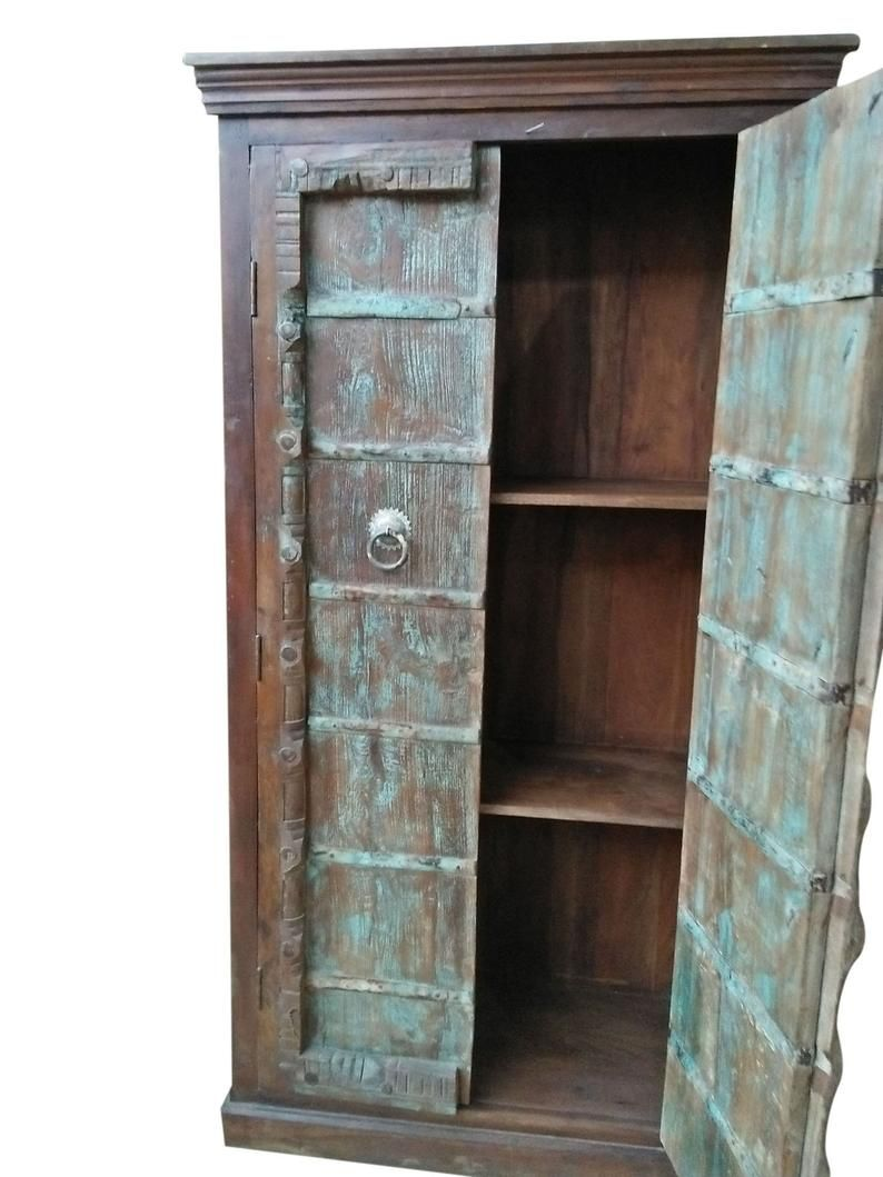 Pin By Mogul Interior On Antique Armoires Antique Armoire Rustic Wood Cabinets Rustic Farmhouse Furniture