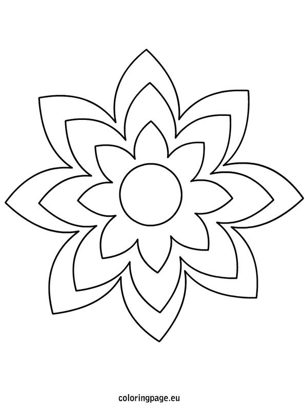 Large Printable Flower Template Flower Templates Printable