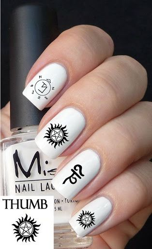 Supernatural Nail Decal Great Ideas Pinterest Nails Nail Art