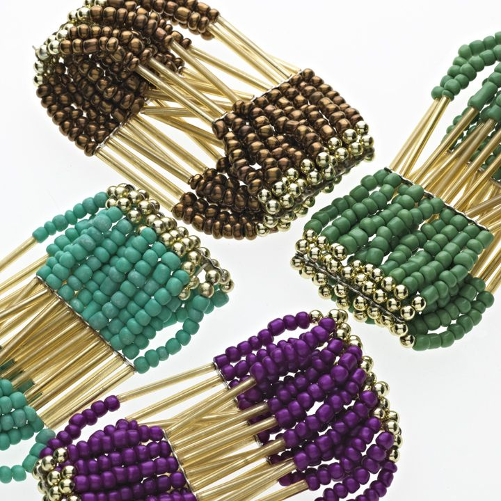 I like the look of these. Seed beads and tube beads (liquid silver ...