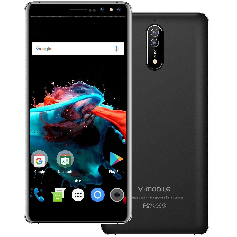 Amazon Com Unlocked Smartphone 2018 9 Pcs V Mobile N8 N 5 5 Inches 8 0mp Dual Rear Camera 16gb Rom Android 7 0 2800mah Battery 3g Dual Sim Phone Simple Mobile