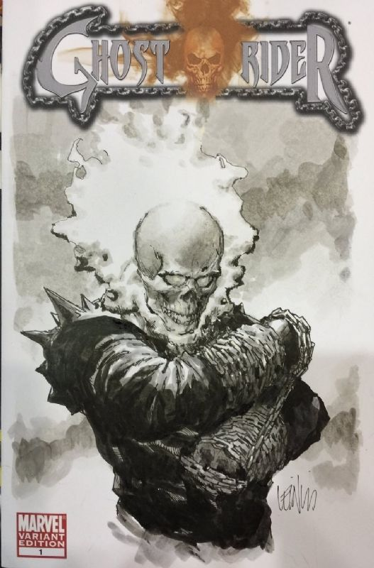Ghost Rider Sketch Cover by Leinil Yu Comic Art