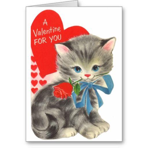 cat valentine card - Cat Valentine Cards