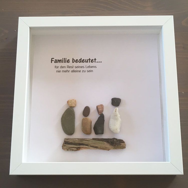 Bilderrahmen Familie – Schönes aus Wolle – mit Liebe gehäkelt & gestrickt