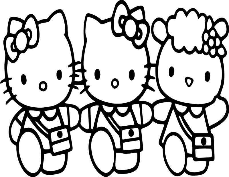 Hello Kitty And Friends Coloring Page Family Coloring Pages Barbie Coloring Pages Hello Kitty