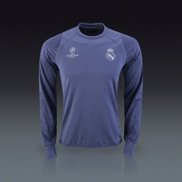 03a73703d Buy adidas Real Madrid Long Sleeve Europe Training Top 16 17 on SOCCER.COM…