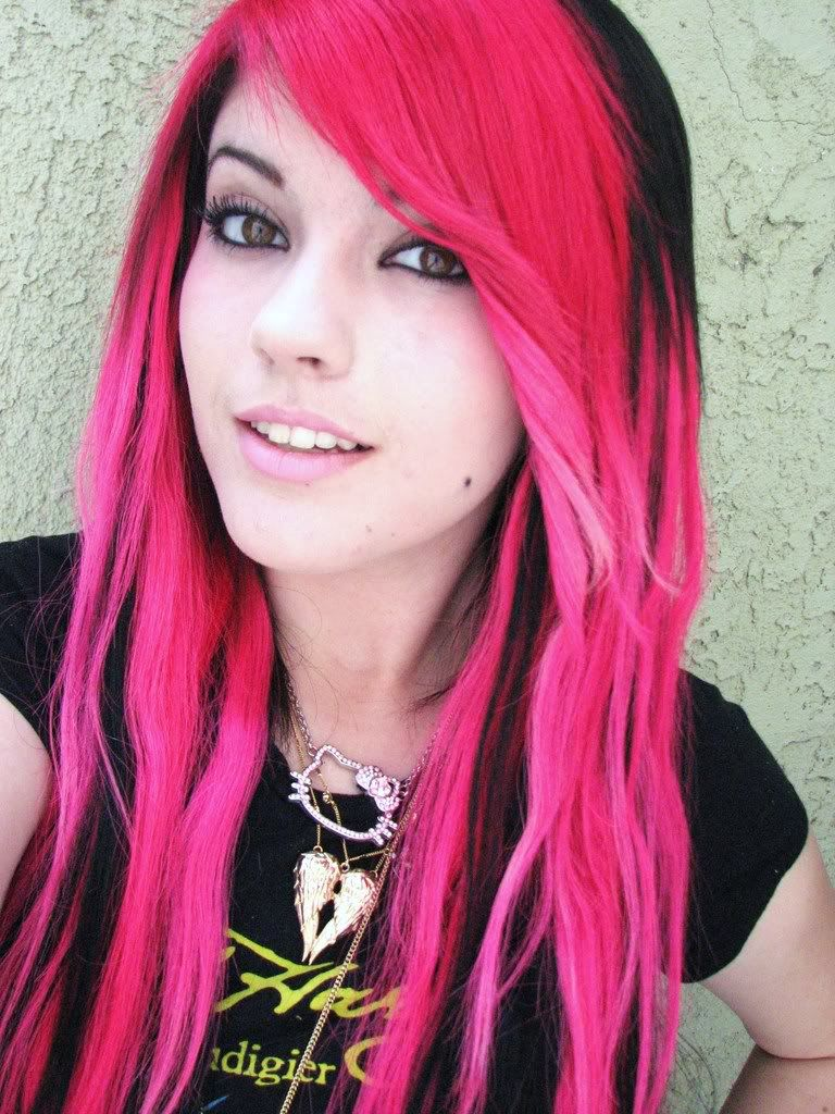 Pink bright hair tumblr
