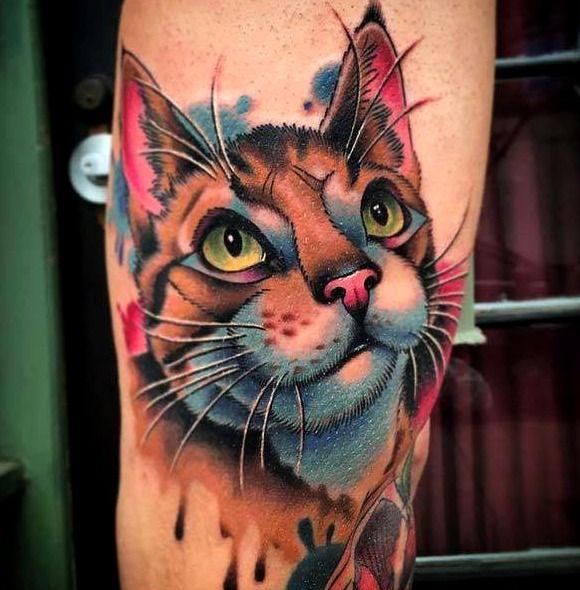 Tatuajes De Gatos Tatuaje Gato Disenos De Tatuaje De Gato Tatuajes Espeluznantes