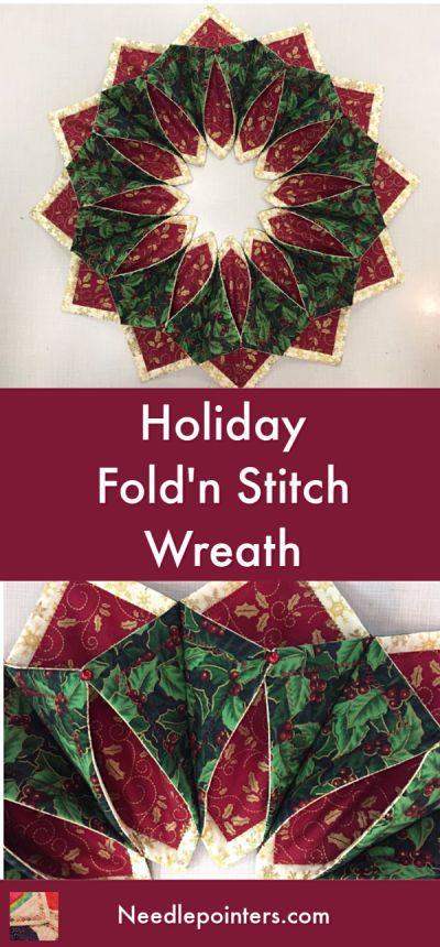 Photo of Fold n Stitch Wreath | Needlepointers.com
