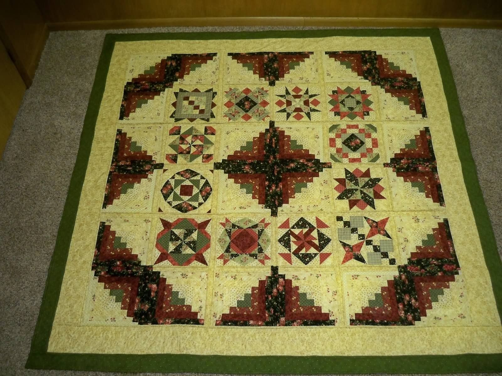 Amanda and Keith's Log Cabin Sampler quilt. Made using cotton ... : cotton theory quilting - Adamdwight.com