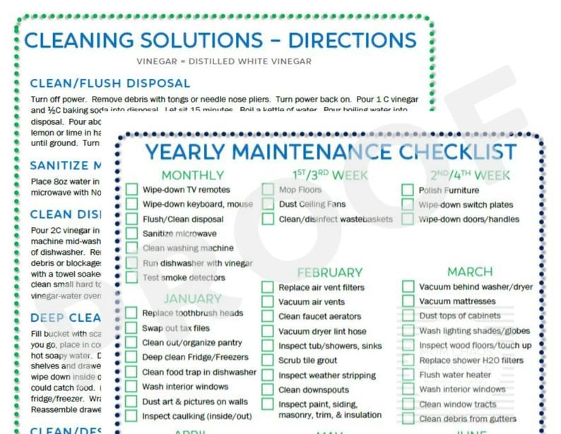 Yearly Home Maintenance ǀ Home Maintenance Checklist ǀ Monthly Schedule Deep Cleaning Directions ǀ Spring Cleaning ǀ Pdf ǀ Instant Download In 2020 Home Maintenance Checklist Maintenance Checklist Home Maintenance