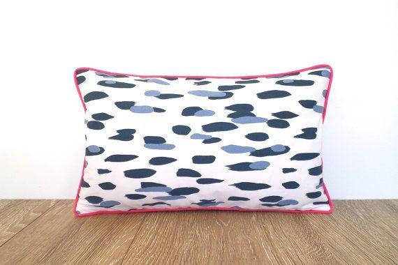 Blue dot pillow cover modern home decor polka dot by anitascasa